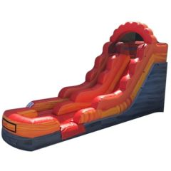 12' Fire Red Marble Inflatable Water Slide with Blower