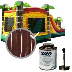 Moose Supply Inflatable Bounce House Vinyl Repair Kit, Brown Marble with 4 oz. SX69 Glue
