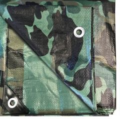 12' x 16' Multi-Purpose Water Resistant Camo Poly Tarp Cover