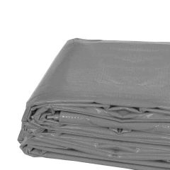20' x 20' Heavy Duty Waterproof PVC Vinyl Tarp - Gray