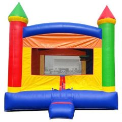 USED Crossover Rainbow Bounce House with Blower