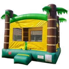 USED Crossover Tropical Bounce House with Blower
