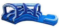 Dual Lane Curve Extension with Blower for 22' Blue Marble Water Slide