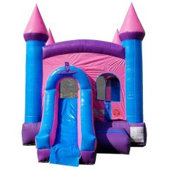 USED Crossover Pink Bounce House and Slide Combo with Blower