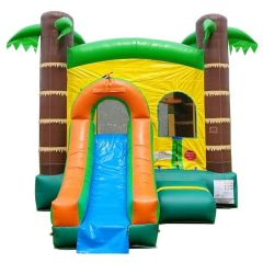 USED Crossover Tropical Bounce House Slide Combo
