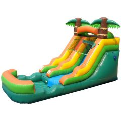 Crossover Tropical Inflatable Water Slide