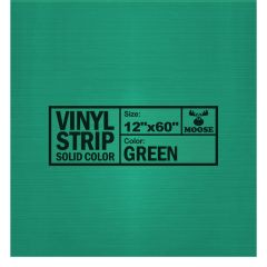 "Moose Supply Solid Green Vinyl Strip 12"" x 60"""
