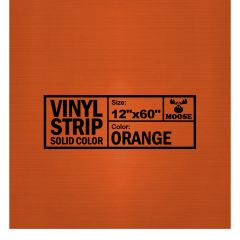"Moose Supply Solid Orange Vinyl Strip 12"" x 60"""