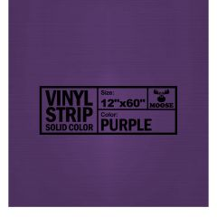 "Moose Supply Solid Purple Vinyl Strip 12"" x 60"""