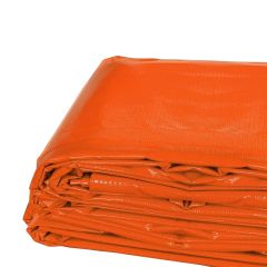 10' x 20' Heavy Duty Waterproof PVC Vinyl Tarp - Orange