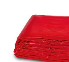 15' x 15' Heavy Duty Waterproof PVC Vinyl Tarp - Red