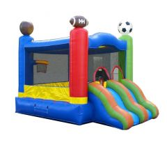 Crossover Sports Dual Lane Bounce House Slide Combo