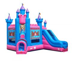 Deluxe Princess Bounce House and Slide Combo with Blower