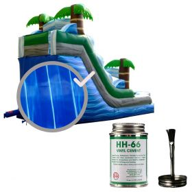 Moose Supply Inflatable Bounce House Vinyl Repair Kit, Blue Marble with 4 oz. HH66 Glue