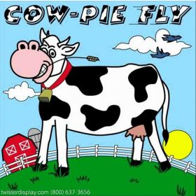 Cow Pie Fly Interactive Carnival Frame Game
