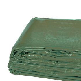 6' x 8' Heavy Duty Waterproof PVC Vinyl Tarp - Green