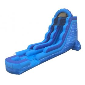 18' Blue Marble Inflatable Water Slide with Blower