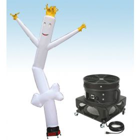 18' Fly Guy Inflatable Tube Man with Blower - White Arrow