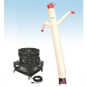 18' Fly Guy Inflatable Tube Man with Blower - Standard White