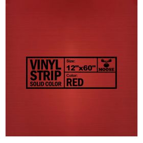 "Moose Supply Solid Red Vinyl Strip 12"" x 60"""