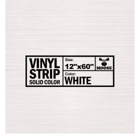 "Moose Supply Solid White Vinyl Strip 12"" x 60"""
