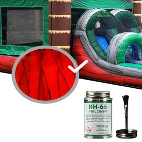 Moose Supply Inflatable Bounce House Vinyl Repair Kit, Red Marble with 4 oz. HH66 Glue