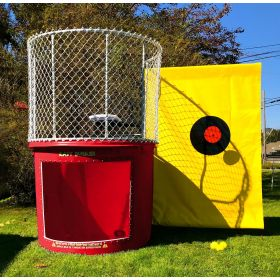Buy Red Portable Dunking Booth with New Wingless Design Dunk Tank