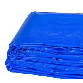 6' x 8' Heavy Duty Waterproof PVC Vinyl Tarp - Blue