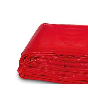 6' x 8' Heavy Duty Waterproof PVC Vinyl Tarp - Red