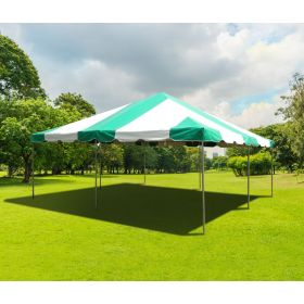 20' x 20' PVC Weekender West Coast Frame Party Tent - Green