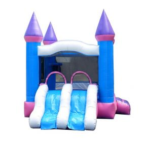 Crossover Pink Dual Lane Bounce House Slide Combo