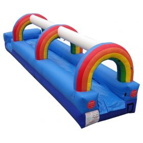 25' Rainbow Inflatable Slip n Slide with Blower