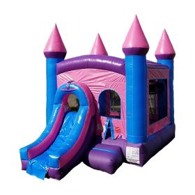 Inflatable Water Slide Bounce House Combo, Pink Crossover