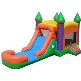 Extreme Orange Water Slide Bounce House Combo with Blower