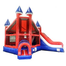 Patriotic Deluxe Castle Slide Combo with Blower