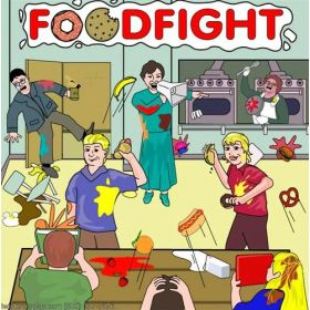 Food Fight Interactive Carnival Frame Game