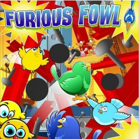 Furious Fowl Interactive Carnival Frame Game