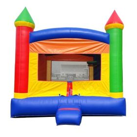 Crossover Rainbow Bounce House with Blower