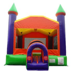 Orange Castle Inflatable Bounce House with Blower