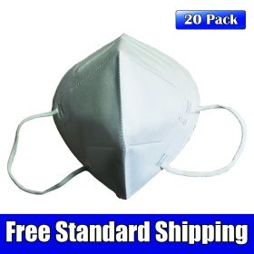 KN95 GB 2626-2006 Disposable Filtering Respirator Mask, 20 Pack High Efficiency