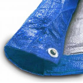 30' x 50' Blue & Silver Multi-Purpose Water Resistant Poly Tarp Cover