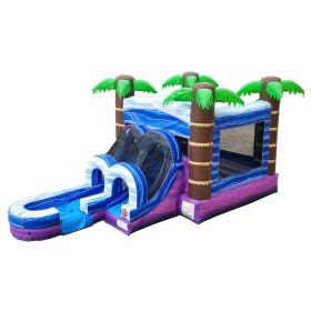 USED Kids Tropical Water Slide Bounce House Combo with Blower