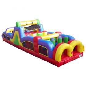 USED 40' Retro Inflatable Obstacle Course with Blower