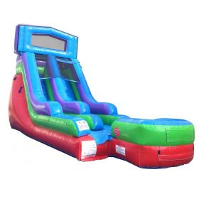 15' Modular Retro Rainbow Inflatable Water Slide with Blower