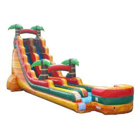 22' Tropical Fire Marble Inflatable Water Slide with Blower