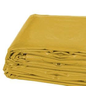 10' x 20' Heavy Duty Waterproof PVC Vinyl Tarp - Yellow