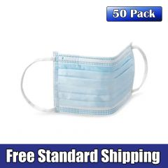 Disposable Face Mask, 50 Pack