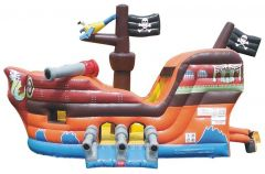 Buy Deluxe Pirate Ship Commercial Bounce House and Slide Combo with Blower
