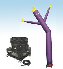 18' Fly Guy Inflatable Tube Man with Blower - Standard Purple