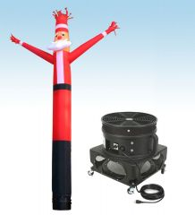 18' Fly Guy Inflatable Tube Man with Blower - Santa Claus 1
